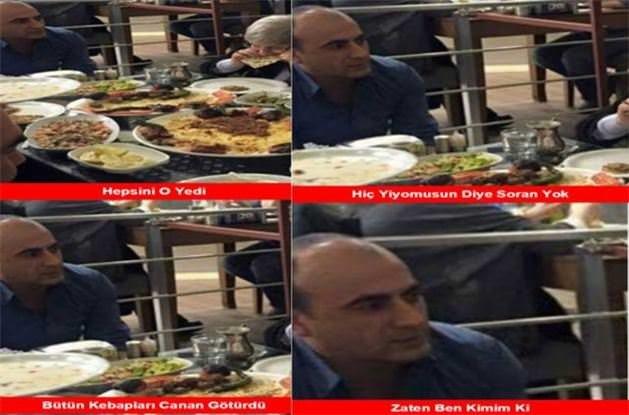 Canan Karatay kebap yedi sosyal medya durmadı