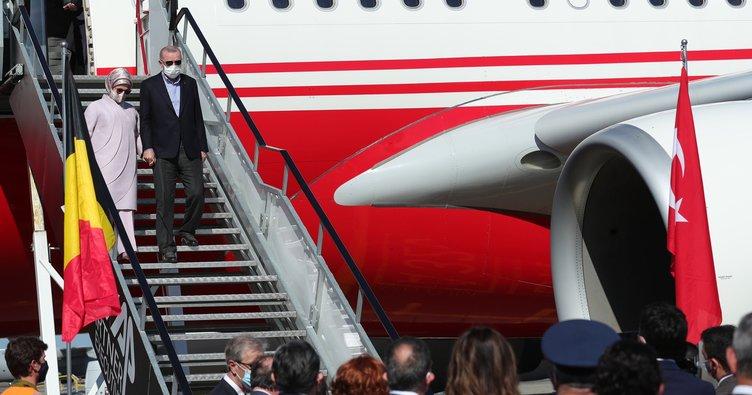 Başkan Recep Tayyip Erdoğan NATO Zirvesi için Brüksel'de!