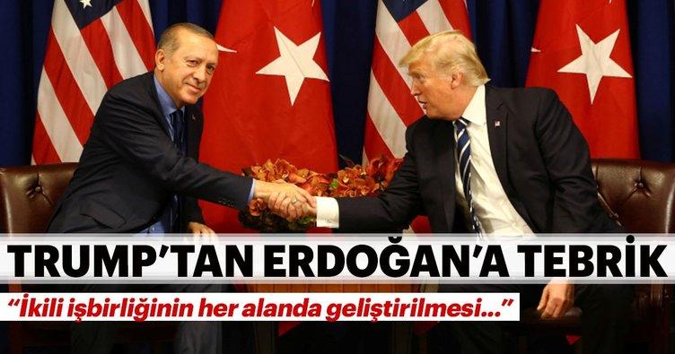 Son dakika: Trump'tan Cumhurbaşkanı Erdoğan'a tebrik telefonu