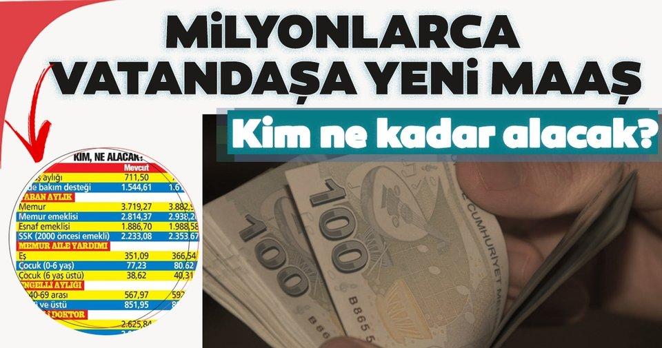 Milyonlarca vatandaşa yeni maaş: 2021 yılında SSK, Bağkur, memur ve emeklisinin maaşı ne kadar olacak? - Haberler Haberleri