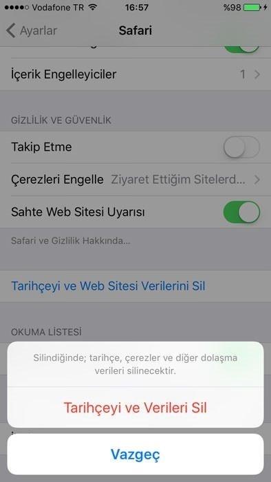 iPhone Safari geçmişi nasıl silinir? Safari geçmişi nasıl temizlenir?