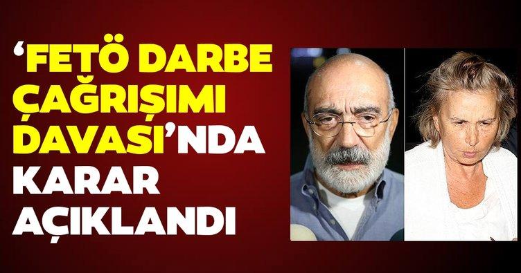 Son dakika haberi: FETÖ'nün medya yapılanmasına ilişkin davada Nazlı Ilıcak, Mehmet Altan ve Ahmet Altan ile ilgili karar çıktı!