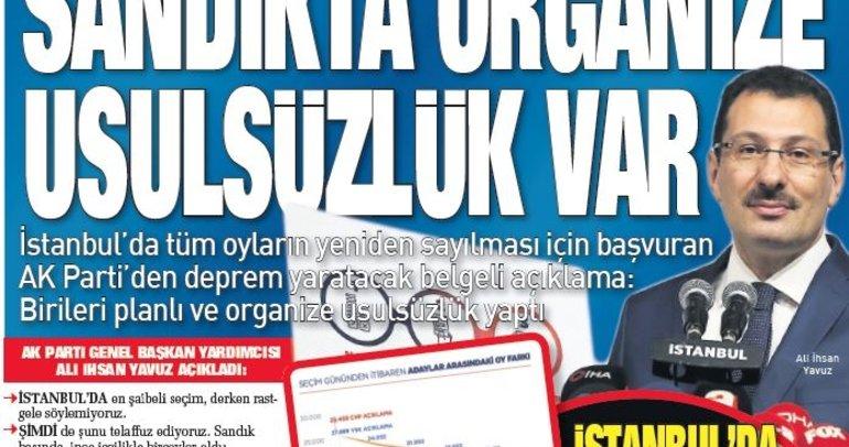 Türkiye İstanbul seçimlerindeki şaibe skandalını SABAH'tan okudu!