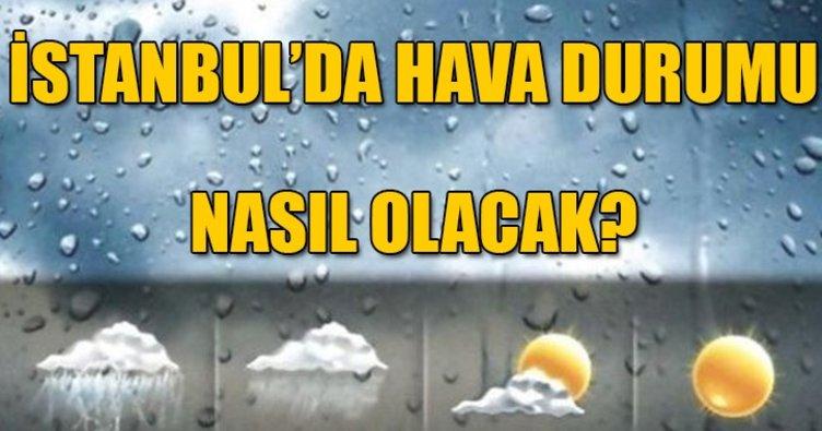 İstanbul'da yağmur başladı! İstanbul'da hava durumu nasıl olacak? İstanbul'da dolu yağacak mı?