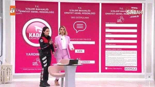 Kadın destek uygulaması KADES, Esra Erol'da programında tanıtıldı | Video