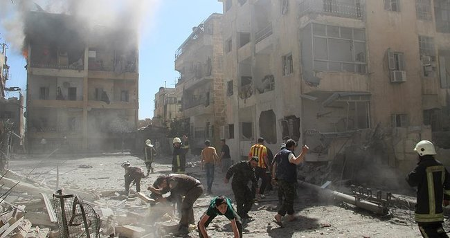 Rus jetleri Halep'i bombaladı: 28 ölü, 57 yaralı