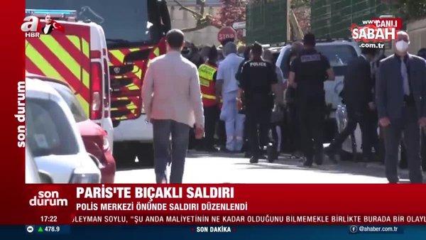 Paris'te karakolda bıçaklı saldırı: 1 ölü | Video