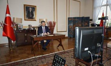 Şanlıurfalı Büyükelçi, Eyyübiyeli öğretmen ve öğrencilerle online görüştü