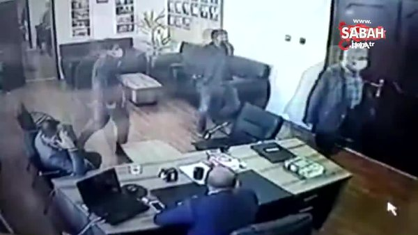 Belediyedeki silahlı saldırı kamerada | Video