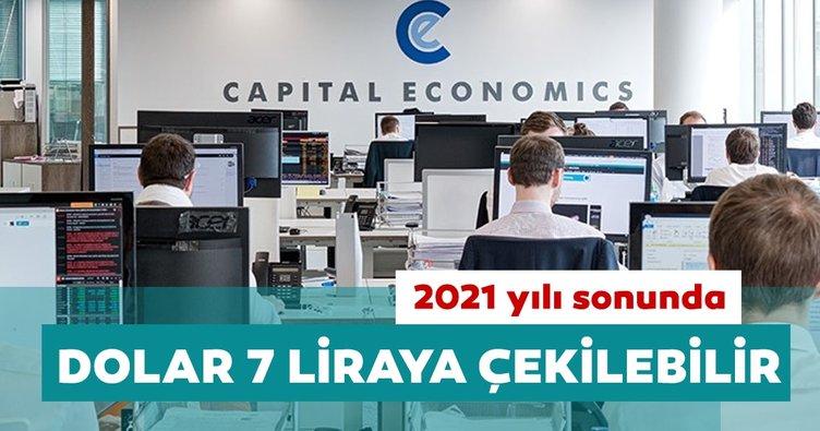 Capital Economics: 2021 yılı sonunda dolar 7 liraya gerileyebilir