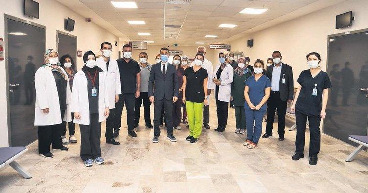 Sağlık çalışanlarına teşekkür ziyareti