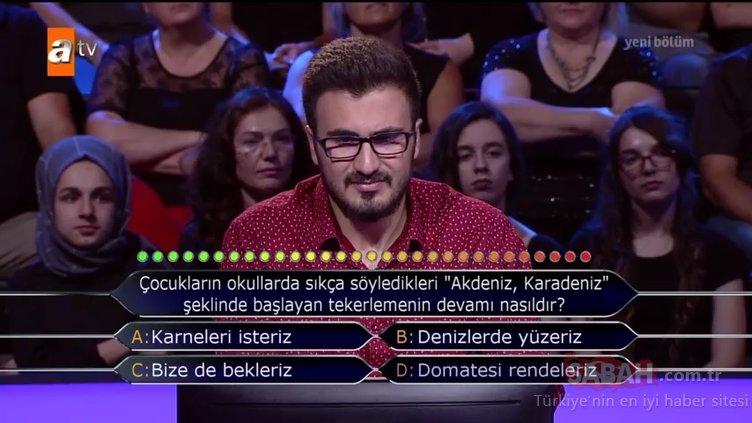 Kim Milyoner Olmak İster? 770. Bölüm tüm soru ve cevapları