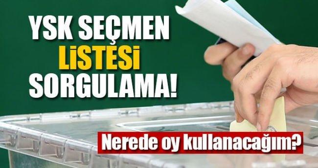 Yüksek Seçim Kurulu YSK seçmen sorgulama 2017! - Nerede oy kullanacağım? - Hemen öğren