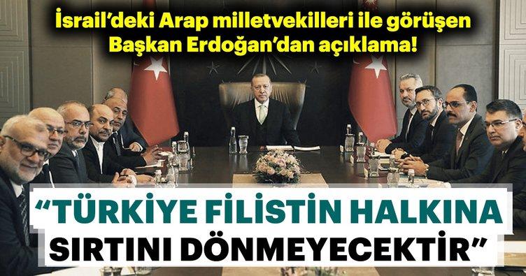 Başkan Erdoğan İsrail Parlamentosundaki Arap milletvekilleri ile görüştü