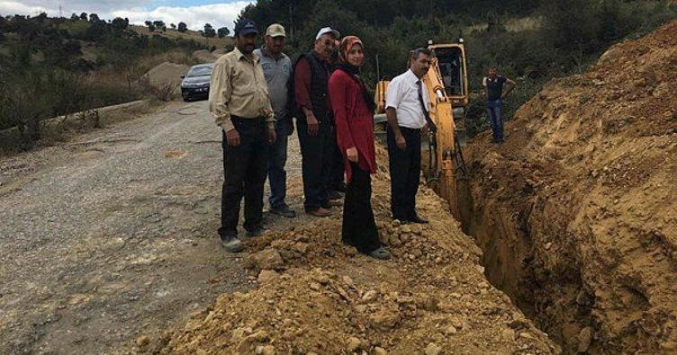 Pazarlar'da isale hattı ve şebeke içme suyu inşaatı yapımı