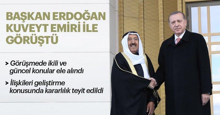 Son dakika: Başkan Erdoğan Kuveyt Emiri ile görüştü