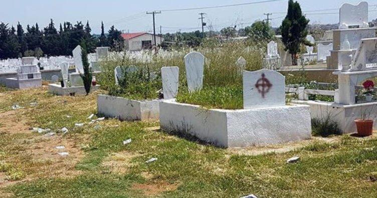 Dedeağaç'ta Türk mezarlığına saldırı