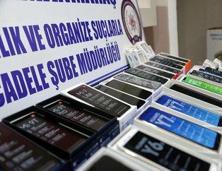 Kahramanmaraş'ta seyyar satıcıda yakalanan kaçak cep telefonları şaşırttı