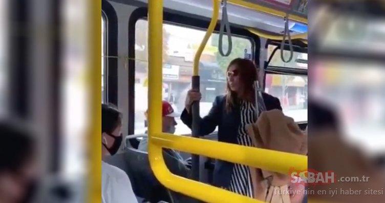Son Dakika: Maske takmayan kadın yolcunun üstüne tükürdü! Polis bu skandal videoyu soruşturuyor!