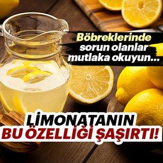 Limonatanın böbreklerle olan ilişkisi şaşırttı!