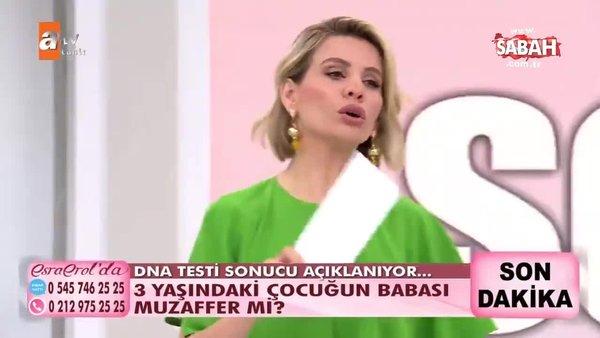 Esra Erol'un canlı yayınında büyük şok! DNA testi sonucuna göre 3 yaşındaki çocuğun babası Muzaffer değil! | Video