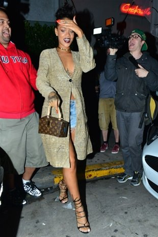 Rihanna Los Angeles'ta böyle gezdi
