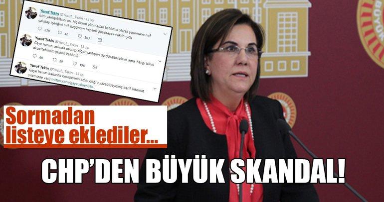 CHP'den büyük skandal: Fikirlerini bile almadan listeye eklediler!