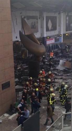Brüksel Havalimanı'nda patlamadan kareler