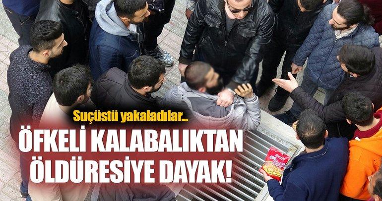 Vatandaşlardan tacizciye tekme tokat dayak!