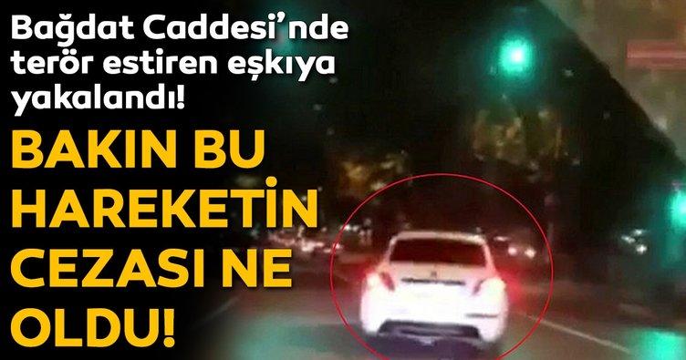 Bağdat Caddesi'nde drift yapan sürücü yakalandı