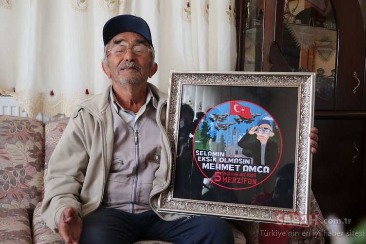 Merzifon'da 25 yıldır Mehmetçiği selamlayan Mehmet amcayı gururlandıran arma