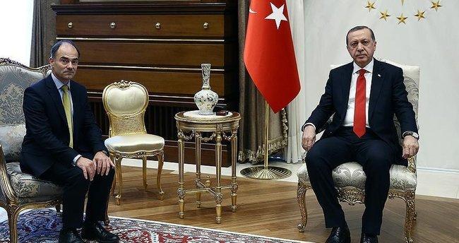 Cumhurbaşkanı Erdoğan, Rolls-Royce CEO'su East'i kabul etti