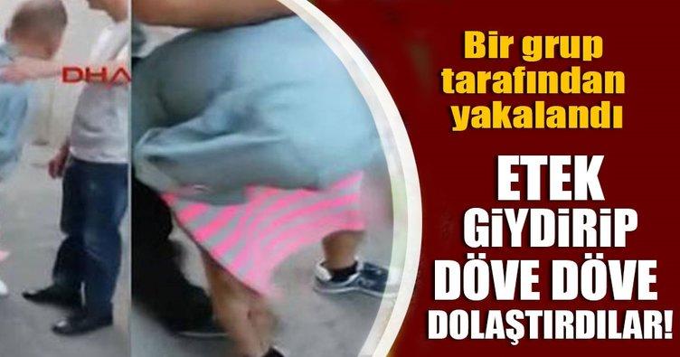 Alibeyköy'de uyuşturucu sattığı iddia edilen kişiyi darp ettiler