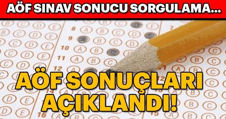 Son dakika: AÖF sınav sonuçları açıklandı! AÖF sınav sonucu sorgulama...