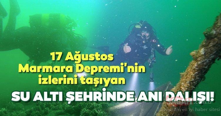 17 Ağustos Marmara Depremi'nin izlerini taşıyan su altı şehrine anı dalışı!