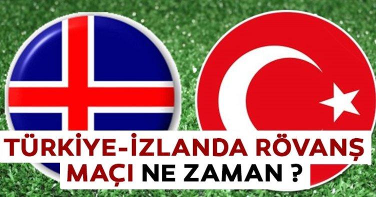 Türkiye İzlanda rövanş maçı tarihi belli oldu! Türkiye İzlanda rövanş maçı ne zaman?