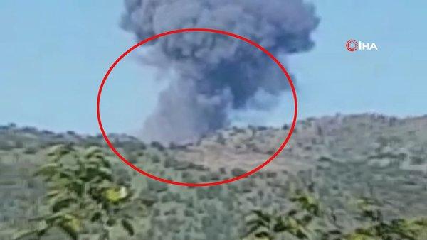Adıyaman'da teröristlerin bombalanarak havaya uçurulma anı kamerada | Video