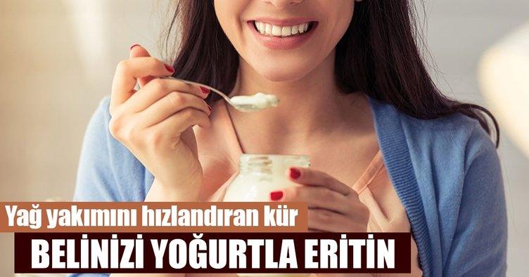 Uyumadan önce yapılan yoğurt kürü bel bölgesini eritiyor