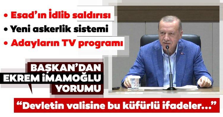 Başkan Erdoğan: Kimsenin devletin valisine böyle ifadeler kullanma hakkı yoktur