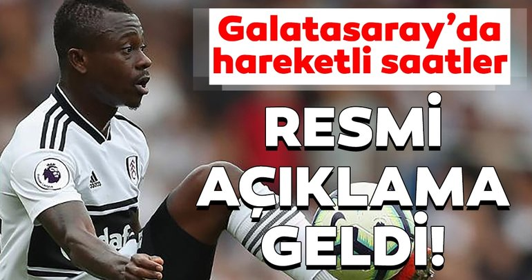 Son dakika transfer haberi: Galatasaray, Jean Michael Seri'yi KAP'a bildirdi