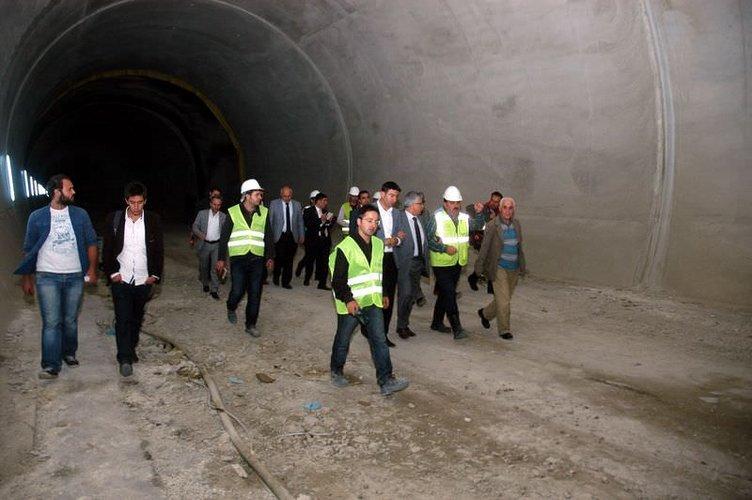 Ovit Tüneli'nde çalışmalar durduruldu