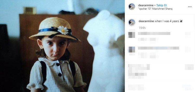 Gucci modeli Armine Harutyunyan'ın bir de çocukluğunu görün!