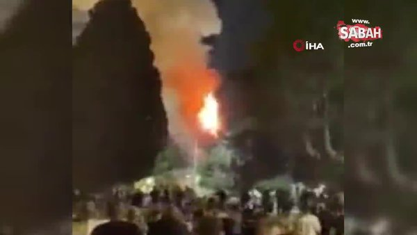 Mescid-i Aksa'nın bahçesinde yangın | Video