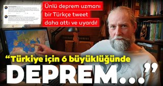 """SON DAKİKA! Dünyaca ünlü deprem uzmanı Frank Hoogerbeets Türkçe tweet attı ve uyardı! 'Ekim ayından beri Türkiye'de…"""""""