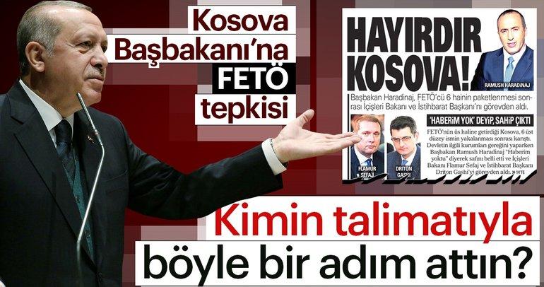 Cumhurbaşkanı Erdoğan'dan Kosova Başbakanı Haradinaj'a sert sözler!