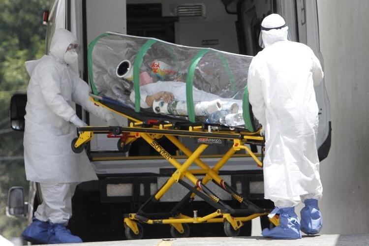 Son dakika: Korkunç görüntüler! Canlı yayında corona virüs hastası....