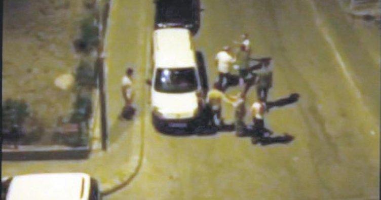 Kadına sokak ortasında tekme tokatlı saldırı