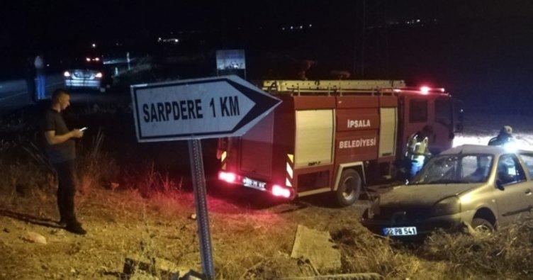 Edirne'de korkunç kaza: 1 ölü, 6 yaralı