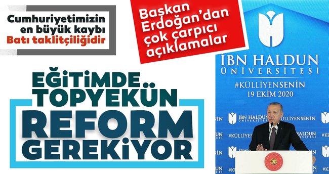 SON DAKİKA: Başkan Recep Tayyip Erdoğan'dan İbn Haldun Üniversitesi Külliyesi Açılış Töreni'nde flaş açıklamalar - - Son Dakika Haberler