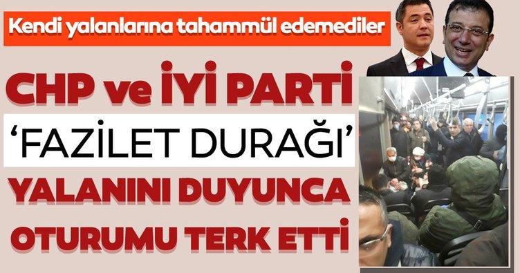 CHP ve İYİ Parti İBB Meclis üyeleri; Fazilet durağı yalanından rahatsız oldu ve İBB Meclisi'ni terk etti!